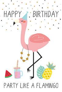 Biglietto d'auguri Legami Unusual Greeting Cards 11,5 x 17 cm. Party Like a Flamingo