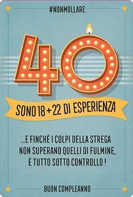 Auguri Buon Compleanno 40 Anni.Biglietto D Auguri Legami Forever Young Greeting Cards Compleanno 40 Anni 18 22 Di Esperienza