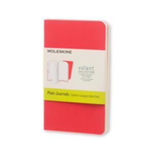Cartoleria Taccuino Volant Moleskine extra small a pagine bianche 2 tinte. Set da 2 Moleskine