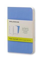 Taccuino Volant Moleskine extra small a pagine bianche copertina 2 tinte di blu. Set da 2