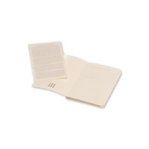 Cartoleria Taccuino Volant Moleskine extra small a pagine bianche 2 tinte. Set da 2 Moleskine 2