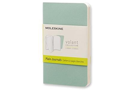 Taccuino Volant Moleskine extra small a pagine bianche 2 tinte. Set da 2