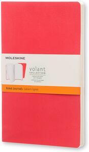 Cartoleria Taccuino Volant Moleskine large a righe 2 tinte. Set da 2 Moleskine