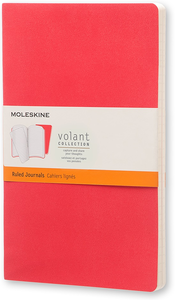 Cartoleria Taccuino Volant Moleskine large a righe 2 tinte. Set da 2 Moleskine 0