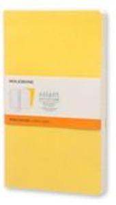 Taccuino Volant Moleskine large a righe copertina 2 tinte di giallo. Set da 2