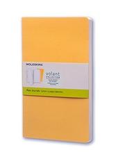 Taccuino Volant Moleskine large a pagine bianche copertina 2 tinte di giallo. Set da 2