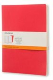 Taccuino Volant Moleskine extra large a righe copertina 2 tinte di rosso. Set da 2