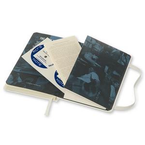 Cartoleria Moleskine Bluenote Limited Edition 2015 Plain Notebook Pocket Hard Cover White Moleskine 10