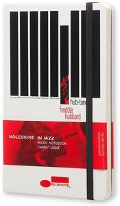 Taccuino Moleskine Bluenote Limited Edition large a righe. Freddie Hubbard. Bianco