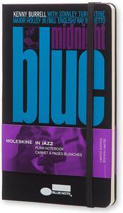 Taccuino Moleskine Bluenote Limited Edition large a pagine bianche. Kenny Burrell. Nero