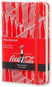 Taccuino Moleskine Coca-Cola Limited Edition pocket a righe. Rosso