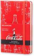 Cartoleria Taccuino Moleskine pocket a pagine bianche. Coca-Cola 2015 copertina rigida Moleskine