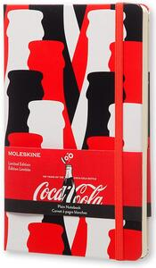 Taccuino Moleskine Coca-Cola Limited Edition large a pagine bianche. Bottle