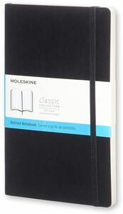 Taccuino Moleskine large puntinato copertina morbida nero. Black