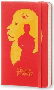 Taccuino Moleskine Game of Thrones Limited Edition pocket a righe. Tyron Lannister. Rosso