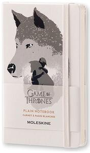 Taccuino Moleskine Game of Thrones Limited Edition pocket pagine bianche. Werewolf. Bianco