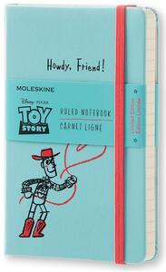 Taccuino Moleskine Toy Story Limited Edition pocket a righe. Azzurro