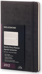 Cartoleria Agenda 2017 12 mesi settimanale verticale Large Moleskine Moleskine 0