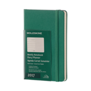 Cartoleria Agenda-taccuino 2017 12 mesi settimanale Pocket Moleskine Moleskine 0