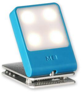 Lampada a LED da viaggio Moleskine. Azzurro