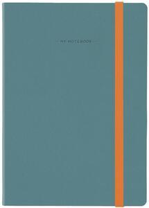 Cartoleria Taccuino Legami My Notebook large a pagine bianche Blu-Grigio. Blue-Grey Legami