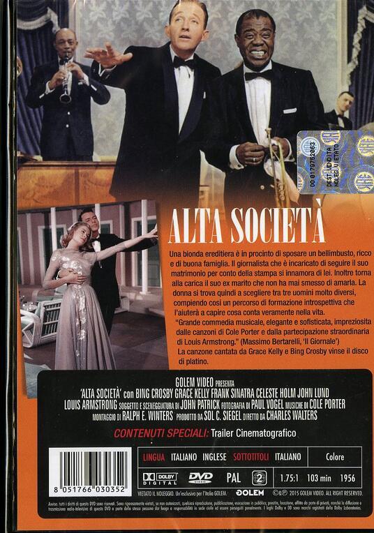 Alta società di Charles Walters - DVD - 2