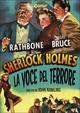 Cover Dvd Sherlock Holmes e la voce del terrore