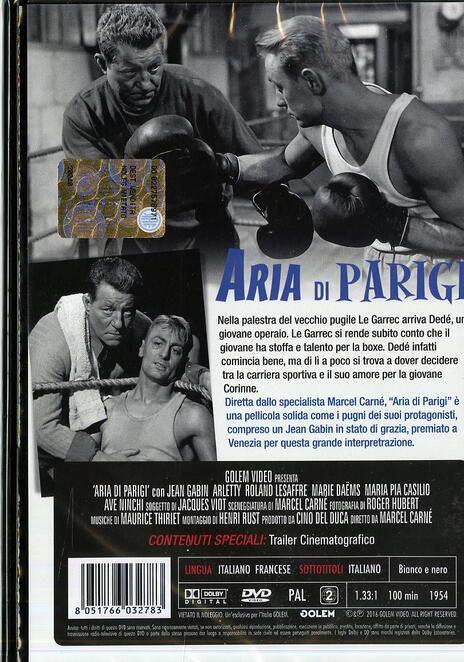 Aria di Parigi di Marcel Carné - DVD - 2