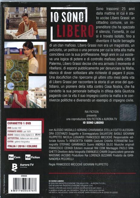 Io sono libero di Francesco Miccichè,Giovanni Filippetto - DVD - 2