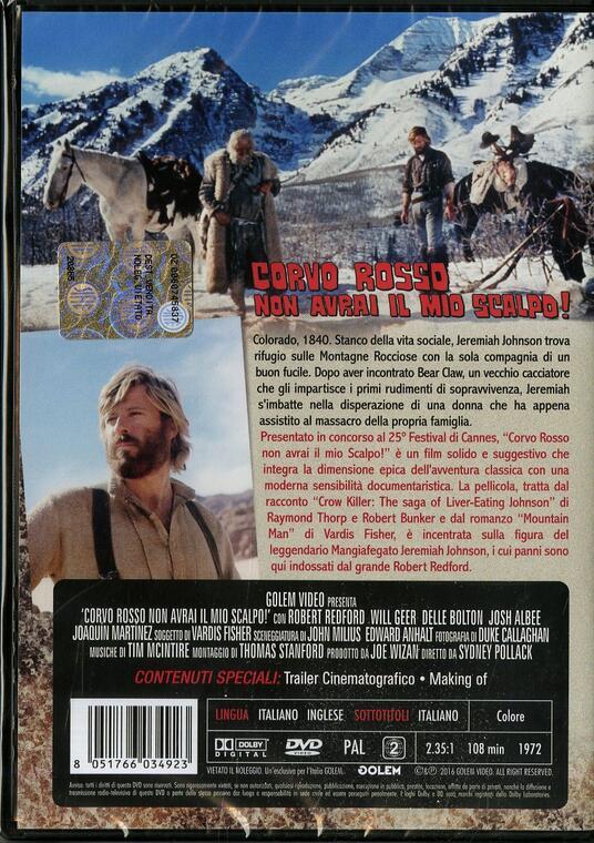 Corvo Rosso non avrai il mio scalpo! (DVD) di Sydney Pollack - DVD - 2
