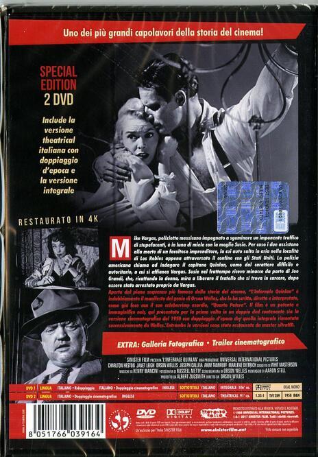 L' infernale Quinlan. Edizione restaurata (2 DVD) di Orson Welles - DVD - 2