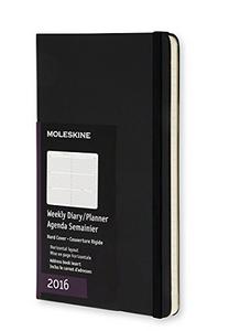 Cartoleria Agenda settimanale orizzontale 2016, 12 mesi, Moleskine pocket copertina rigida Moleskine 0