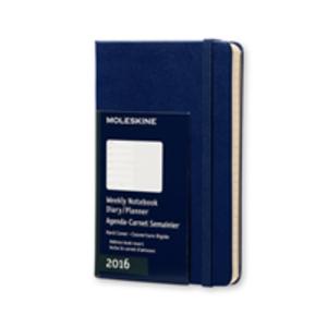 Cartoleria Moleskine 2016 12 mesi Planner Weekly Notebook Pocket Hard Royal Blue Moleskine 0