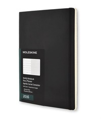 Moleskine 2016 12 mesi Planner Weekly Notebook Extra Large Soft Black
