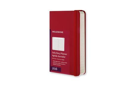 Moleskine 12 mesi Planner Daily Pocket Hard Scarlet Red