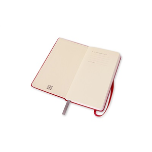 Cartoleria Moleskine 2016 12 mesi Planner Weekly Notebook Panoramic Slim Size Hard Scarlet Red Moleskine 5