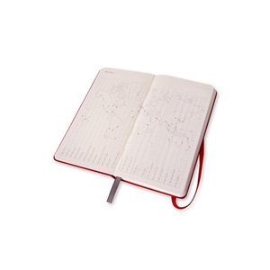 Cartoleria Moleskine 2016 12 mesi Planner Weekly Notebook Panoramic Slim Size Hard Scarlet Red Moleskine 6