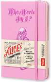 Cartoleria Taccuino Moleskine pocket a righe. Alice in Wonderland copertina rigida Moleskine