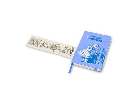 Cartoleria Taccuino Moleskine pocket a pagine bianche. Alice in Wonderland copertina rigida Moleskine 5