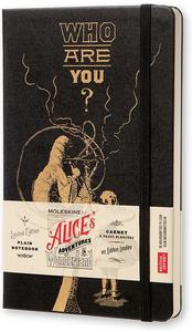 Cartoleria Taccuino Moleskine large a pagine bianche. Alice in Wonderland copertina rigida Moleskine 0