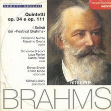 Quintetti op.34, op.111 - CD Audio di Johannes Brahms,Massimo Quarta