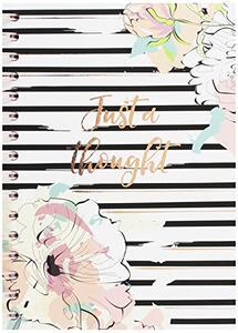 Quaderno ad anelli con pagine rigate. Pastel Geometries. Dettagli in rose gold foil. 120 pagine, 80 mm nero, rosa, bianco