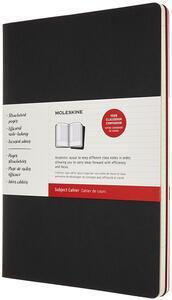Cartoleria Quaderno Cahier Journal Subject Moleskine XXL nero-rosso. Set da 2 Moleskine