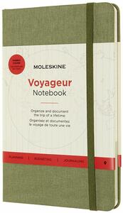Cartoleria Taccuino Moleskine Travellers medium verde. Elm Green Moleskine