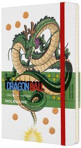 Cartoleria Taccuino Moleskine Dragon Ball Limited Edition large a righe Drago Shenron. Bianco Moleskine