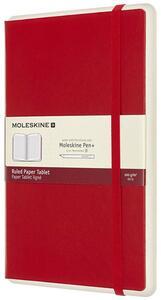 Cartoleria Taccuino Moleskine Papertablet P+ large a righe copertina rigida rosso. Scarlet Red Moleskine