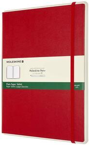 Cartoleria Taccuino Moleskine Papertablet P+ XL a pagine bianche copertina rigida rosso. Scarlet Red Moleskine