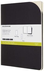 Cartoleria Quaderno Moleskine Papertablet Cahier P+ XL a pagine bianche nero. Black. Set da 2 Moleskine