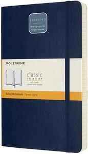 Cartoleria Taccuino Moleskine Expanded Large a righe copertina morbida. Blu Moleskine