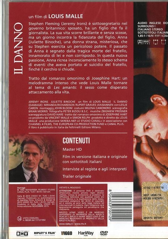 Il danno di Louis Malle - DVD - 2